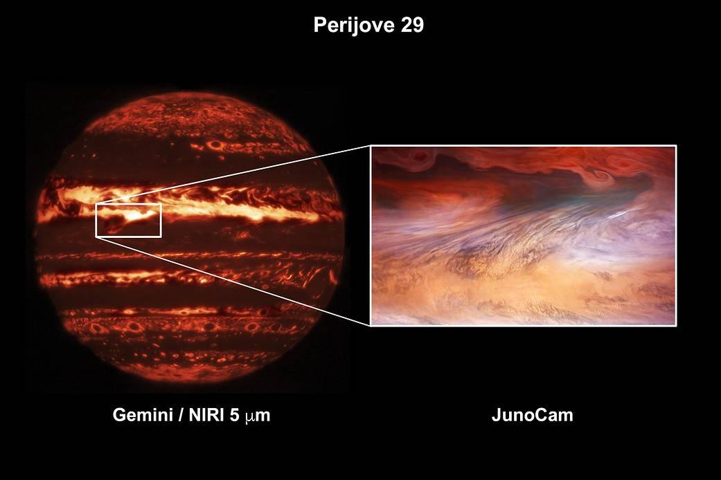 Un punto caliente en Júpiter.