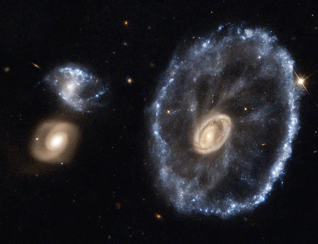 Cartwheel Galaxy as seen by Hubble