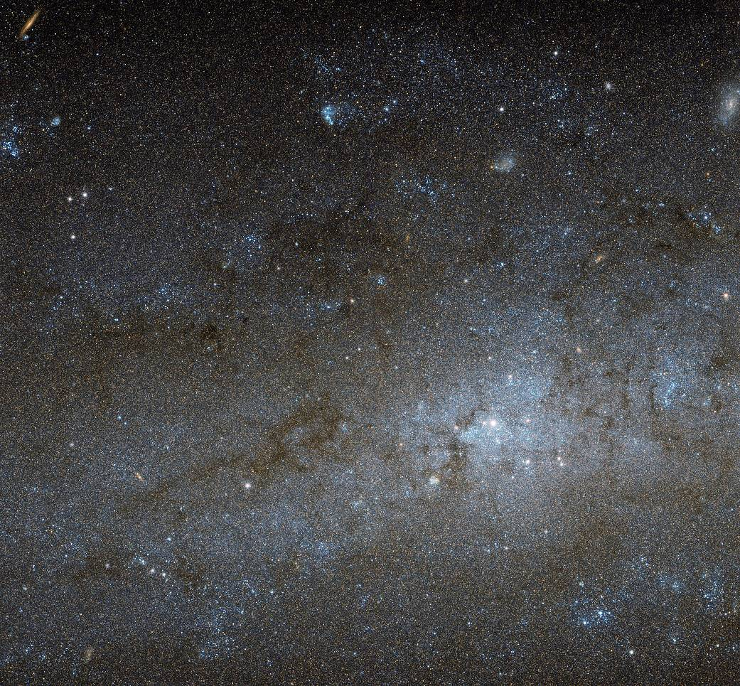 closeup view of spiral galaxy
