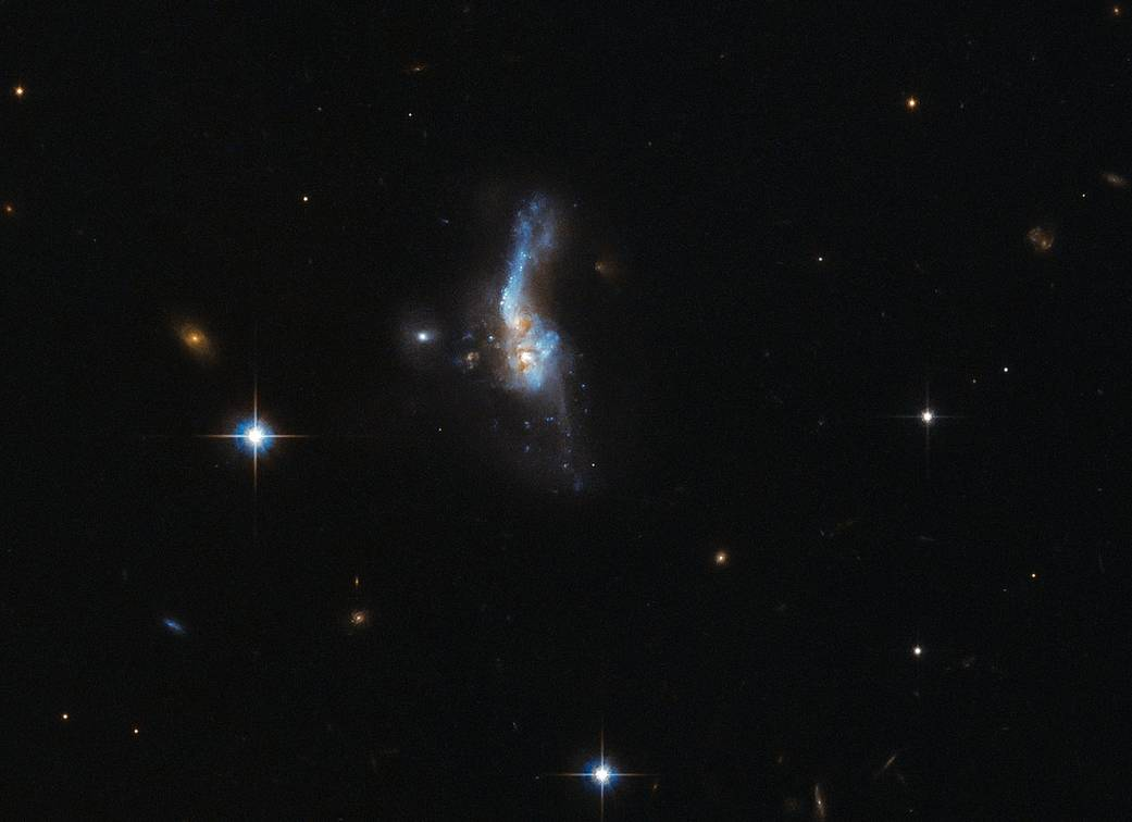 irregular smudge of blue stars in space