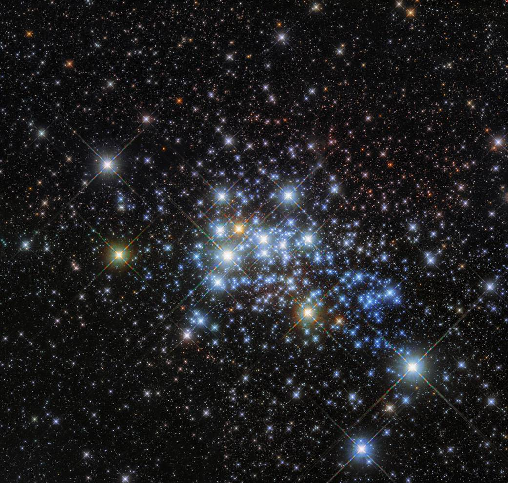 cluster of stars in the void