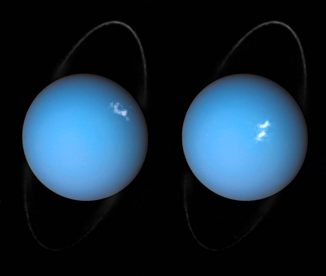 double image of blue planet