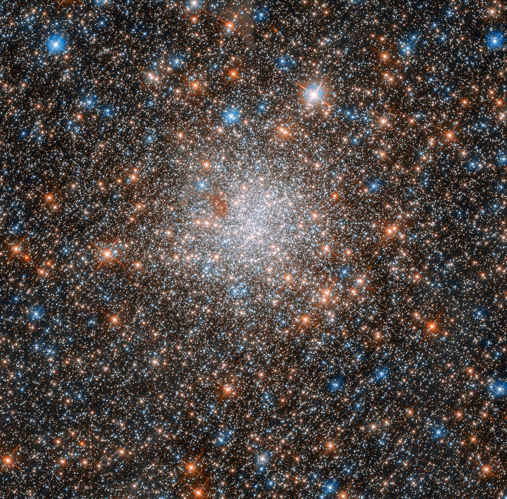 bright cluster of stars in a crowded field