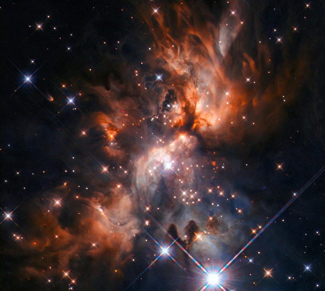 Hubble Peers into a Dusty Stellar Nursery
