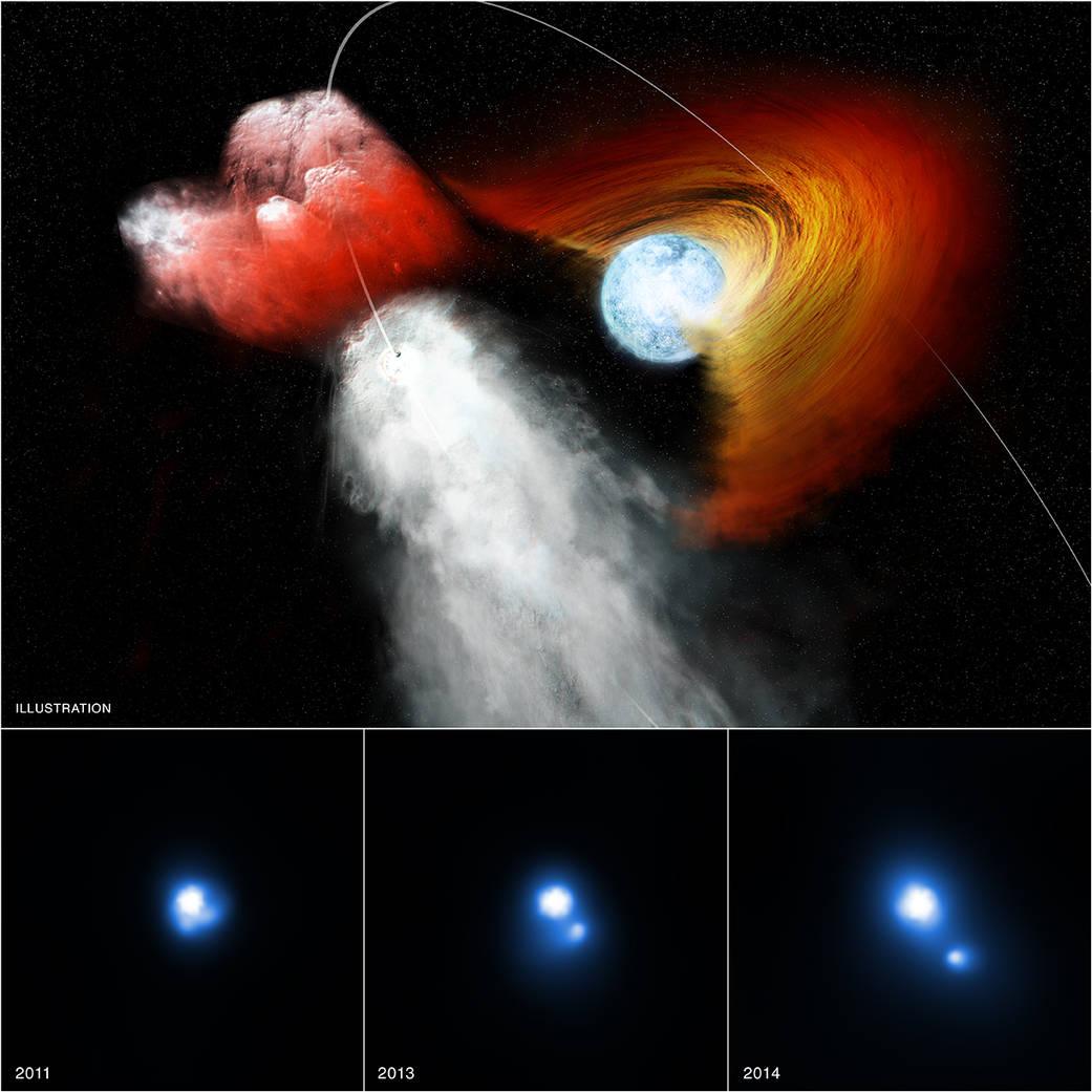 PSR B1259-63/LS 2883, a clump of stellar material.