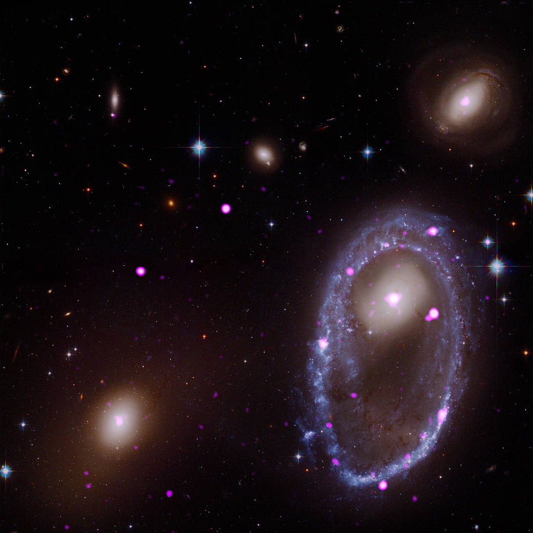 Cosmic Collision Forges Galactic One Ring—in X-rays Ring