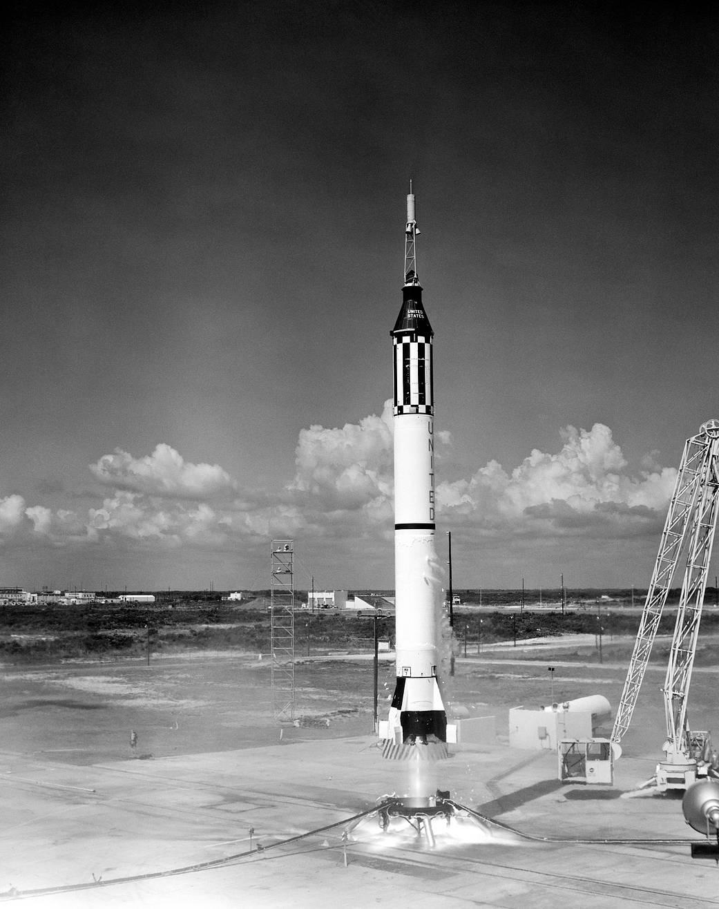 Liftoff of Mercury-Redstone 3 rocket