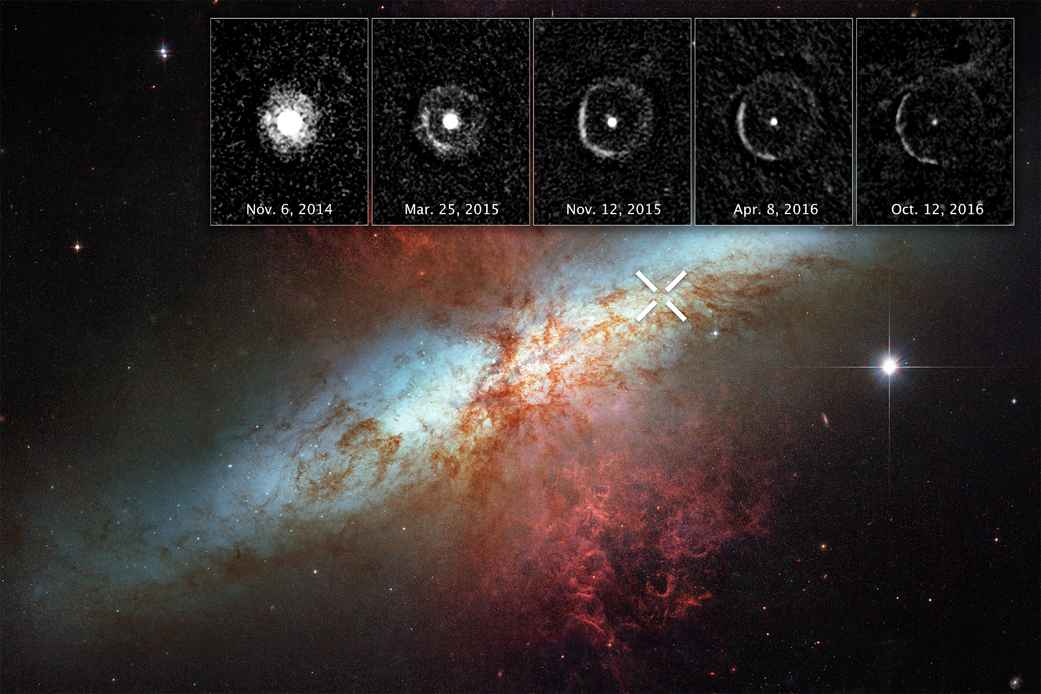 image of nebula with insets