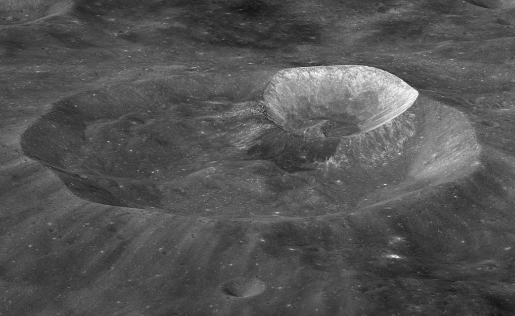 Image showing Wargo Crater, on the far side of the Moon.