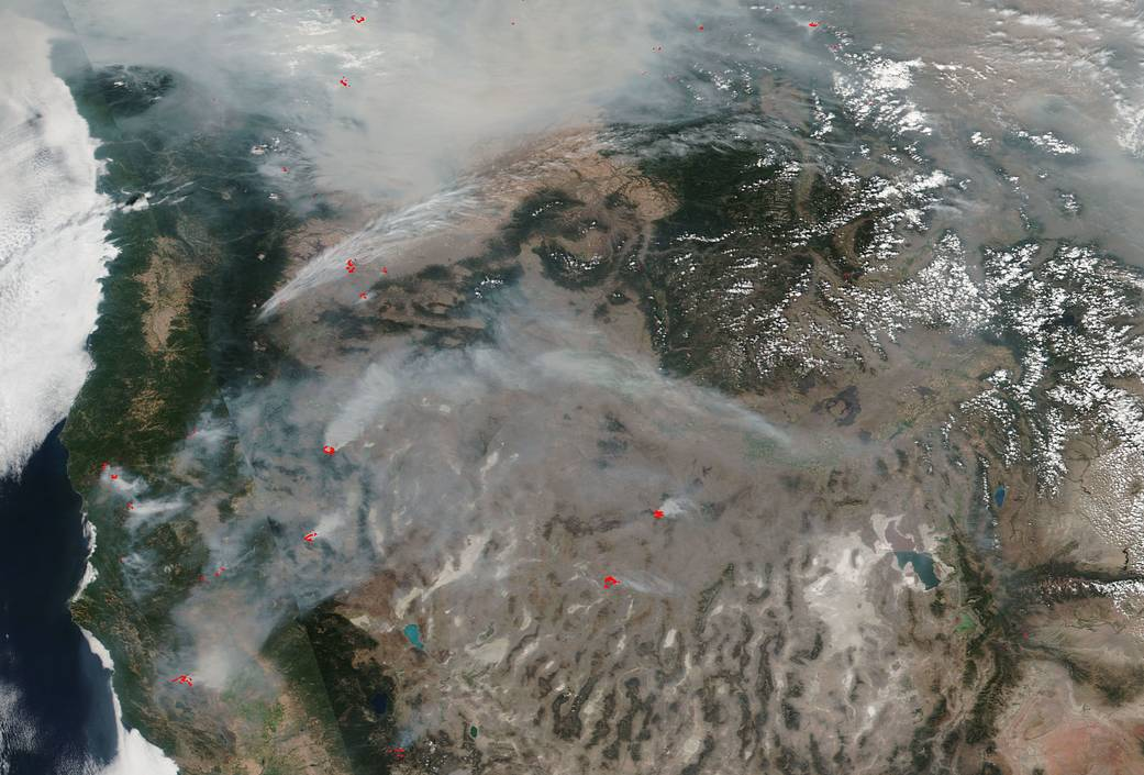 fires across the U.S. West Coast