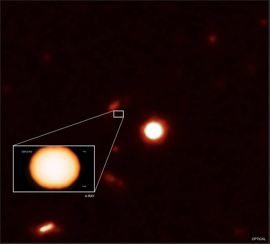 Fuente de rayos X XT2, ubicada en el Chandra Deep Field-South.