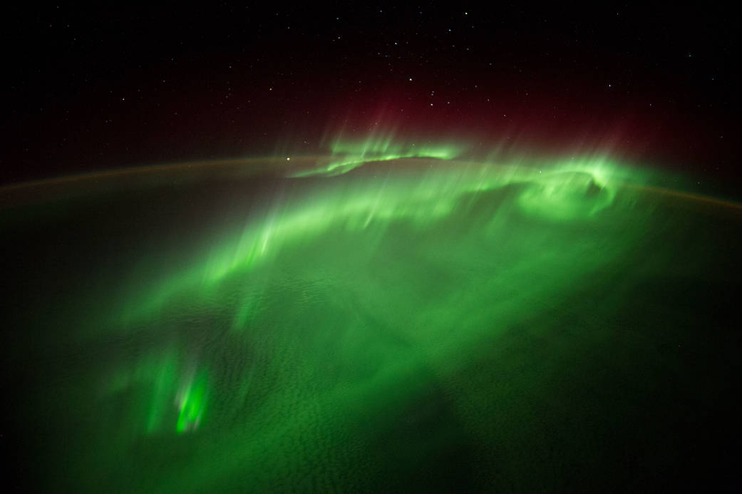 ESA astronaut Alexander Gerst posted this photograph taken from the ISS to social media on Aug. 29, 2014.