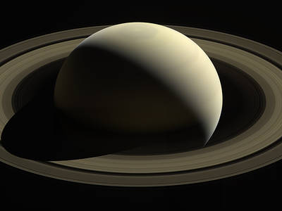 Saturn, from Cassini (NASA)