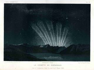 illustration of the six-tailed Great Comet of 1744