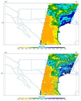 Southern U.S. SMAP soil moisture retrievals from April 27, 2015