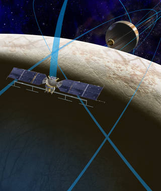 Artist's rendering of possible Europa mission spacecraft
