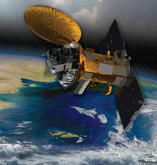 Artist's rendering of the Aquarius/SAC-D satellite