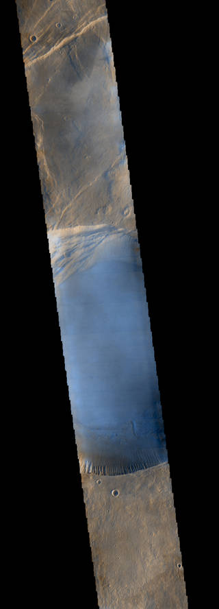 Arsia Mons, a giant volcano on Mars