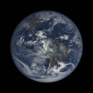 Americas, as captured by NASA's Earth Polychromatic Imaging Camera (EPIC) on the NASA/NOAA Deep Space Climate Observatory