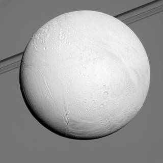 Earlier in Cassini's mission at Saturn, northern terrains on the ocean-bearing icy moon Enceladus were in the shadow of winter.