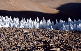 An example of the penitentes from the southern end of the Chajnantor plain in Chile.