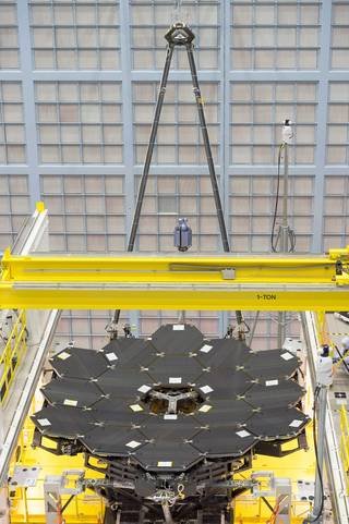 the 18 mirrors for the Webb Telescope