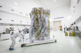 Parker Solar Probe in Astrotech clean room