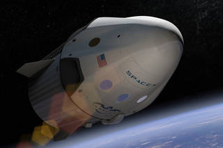 Crew Dragon in space