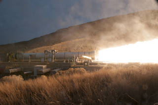 The booster for NASA's Space Launch System rocket was fired for a two minute test on March 11.