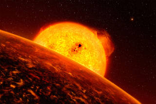 Artist's concept of exoplanet CoRoT-7b