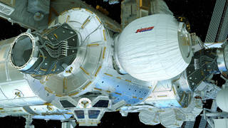 Det oppustelige beboelsesmodul BEAM på ISS