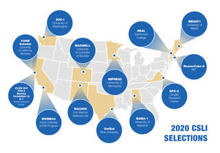 US map of the 2020 CSLI Selections