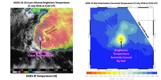 GOES and GPM hailstorm imagery