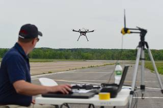 Running tests on a drone in flight