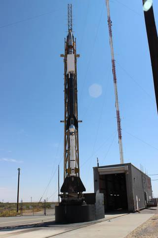 DUST-2 sounding rocket on the rail