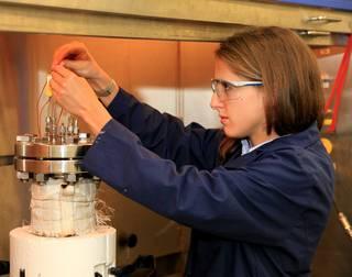 Annie Meier and trash-to-gas reactor