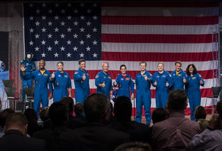 The first U.S. astronauts who will fly on American-made, commercial spacecraft to and from the International Space Station