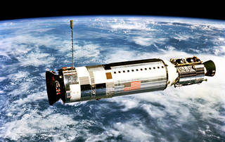 Gemini XII's Agena target docking vehicle