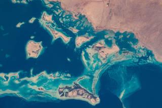 coastline of northwestern Saudi Arabia, as seen from space