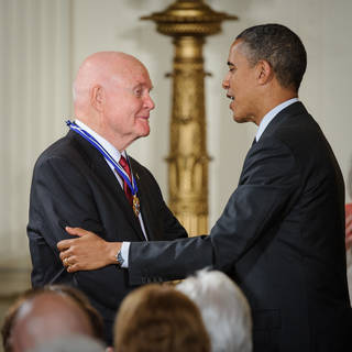 Sen. John Glenn and U.S. President Barack Obama