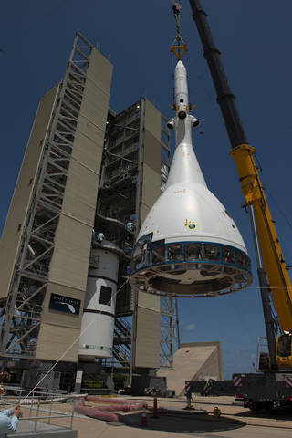 test version of the Orion crew module for Ascent Abort-2