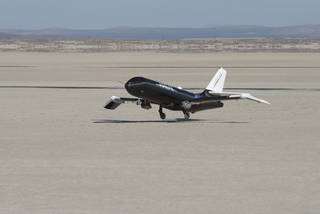 NASA used a remotely-controlled flight testbed called Prototype Technology-Evaluation Research Aircraft, or PTERA, to test the s