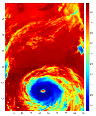 A hurricane as seen by NASA's Atmospheric Infrared Sounder (AIRS) instrument