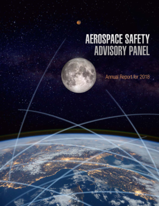 Cover of NASA's Aerospace Safety Advisory Panel 2018 Annual Report