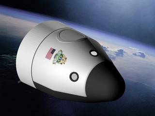 Blue Origin Spacecraft in Orbit