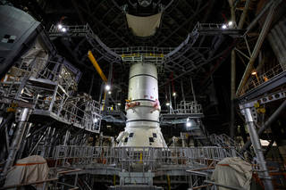 Space Launch System solid rocket boosters for the Artemis I mission