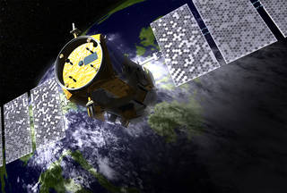 NASA's CALIPSO satellite in orbit, artist's concept
