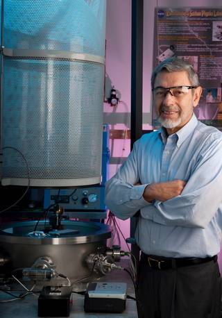 Dr. Carlos Calle has worked on the Electrostatic Dust Shield (EDS) for 15 years.