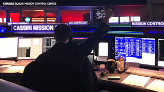 Cassini mission controllers at NASA-JPL received signals from the spacecraft early Sunday morning