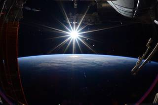 Picture of the Earth from the International Space Station